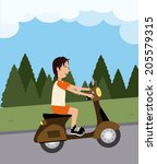 ride design over landscape...   Shutterstock .eps vector #205579315