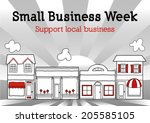 small business week  to honor... | Shutterstock .eps vector #205585105