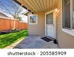 clapboard siding house exterior.... | Shutterstock . vector #205585909