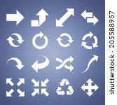 arrow vector icons | Shutterstock .eps vector #205588957
