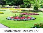 a landscaped public garden in... | Shutterstock . vector #205591777