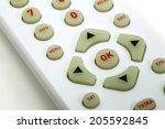 remote control television shot... | Shutterstock . vector #205592845