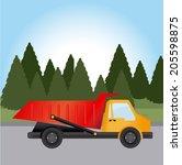 transport design over landscape ... | Shutterstock .eps vector #205598875