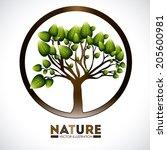 ecology design over white... | Shutterstock .eps vector #205600981