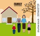 family design over landscape...   Shutterstock .eps vector #205603729