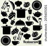 food design over white... | Shutterstock .eps vector #205605301
