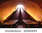 Escalator In Washington Metro...