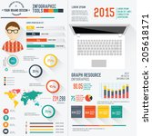 user design resume info graphic ... | Shutterstock .eps vector #205618171