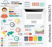 user design resume info graphic ... | Shutterstock .eps vector #205618171