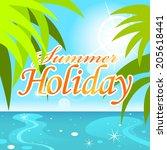 vector summer holiday background | Shutterstock .eps vector #205618441