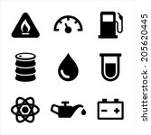 gasoline diesel fuel service... | Shutterstock .eps vector #205620445