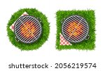 realistic detailed 3d bbq or...   Shutterstock .eps vector #2056219574