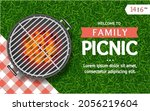 realistic detailed 3d barbecue...   Shutterstock .eps vector #2056219604