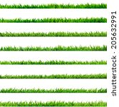 8 item set  small grass... | Shutterstock .eps vector #205632991