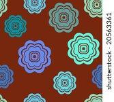 seamless retro flowers pattern... | Shutterstock .eps vector #20563361