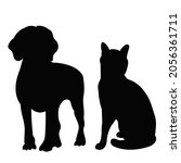 silhouette of cat and dog ... | Shutterstock .eps vector #2056361711