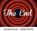 the end typography. old movie... | Shutterstock .eps vector #205639234