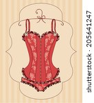 Lady's Red Corset