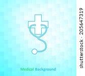 medical background | Shutterstock .eps vector #205647319