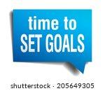 time to set goals blue 3d... | Shutterstock .eps vector #205649305