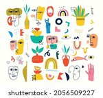 big set of different colored... | Shutterstock .eps vector #2056509227