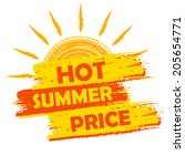 hot summer price banner   text... | Shutterstock . vector #205654771