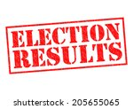 election results red rubber... | Shutterstock . vector #205655065