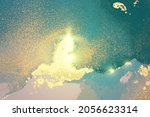 turquoise  blue and gold...   Shutterstock .eps vector #2056623314