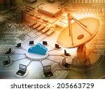 information technology... | Shutterstock . vector #205663729