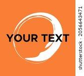 vector round shape on orange.... | Shutterstock .eps vector #2056643471