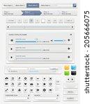 web design elements set. vector ... | Shutterstock .eps vector #205666075