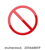 no sign  no symbol  not allowed ... | Shutterstock .eps vector #205668859