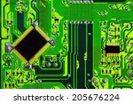 green circuit board without... | Shutterstock . vector #205676224