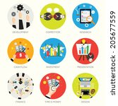 collection of business and... | Shutterstock .eps vector #205677559