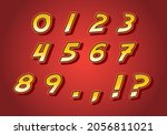 number set vector font alphabet ...