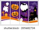 halloween banners | Shutterstock .eps vector #205682734