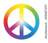 peace symbol with circular...   Shutterstock .eps vector #205687297