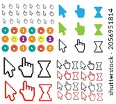 pixel cursors icons mouse hand... | Shutterstock . vector #2056951814
