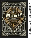 whiskey label with old frames   Shutterstock .eps vector #2056981037