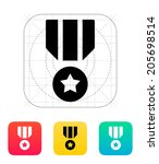 military medal icon. vector...