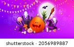 happy halloween background ... | Shutterstock .eps vector #2056989887