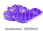 Purple Flip Flop Sandals With...