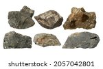 Set Of Stones Isolated On White ...