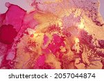 gold  maroon and oink abstract...   Shutterstock .eps vector #2057044874