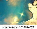 gold  blue and turquoise...   Shutterstock .eps vector #2057044877