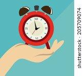 time design over blue... | Shutterstock .eps vector #205709074