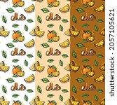 orange fruit fresh seamless...   Shutterstock .eps vector #2057105621