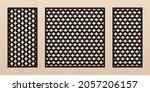 laser cut patterns. modern...   Shutterstock .eps vector #2057206157