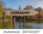 Germany Wooden Arrow Road Sign...