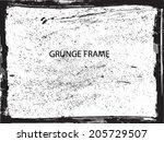 grunge frame. vector template | Shutterstock .eps vector #205729507